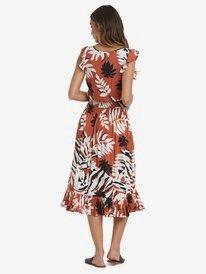 Time To Skip - Short Sleeve Midi Dress for Women  ARJWD03288
