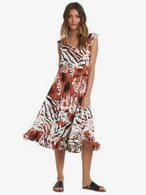 Time To Skip - Short Sleeve Midi Dress for Women  ARJWD03288