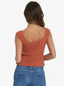 Skippin Through - Strappy Crinkle Top for Women  ARJWT03199