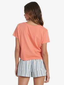 Stripe Wave - Cropped T-Shirt for Women  ARJZT06063