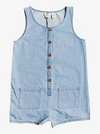 Morning Light - Lightweight Buttoned Denim Playsuit for Girls 4-16  ERGDS03055