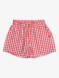 No Promises Gingham - Beach Shorts for Girls 4-16  ERGNS03095