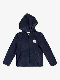 White Shell - Zip-Up Hooded Fleece for Girls 4-16  ERGPF03024