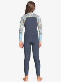 4/3mm Marine Bloom - Front Zip Wetsuit for Girls  ERGW103041
