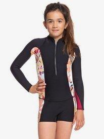 1.5mm POP Surf - Long Sleeve Front Zip Shorty for Girls 8-16  ERGW403006