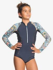1mm Marine Bloom - Front Zip Springsuit for Girls  ERGW403020