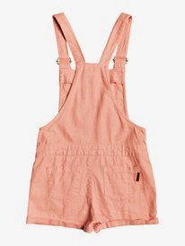 Early Grey - Linen Dungaree Shorts for Girls 4-16  ERGWD03106