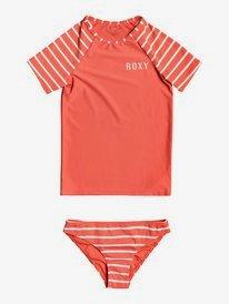 Kinda Savage - Short Sleeve UPF 50 Rash Vest Set for Girls 8-16  ERGWR03192