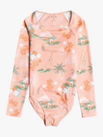 Surf Landscape - Recycled Long Sleeve UPF 50 One-Piece Rashguard for Girls 8-16  ERGWR03244