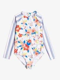 Friendly Flower - Long Sleeve UPF 50 One-Piece Rashguard for Girls 8-16  ERGWR03246