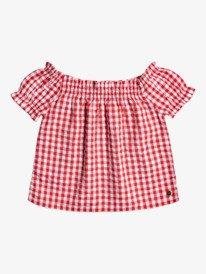 Elastic Heart Gingham - Short Sleeve Top for Girls 4-16  ERGWT03083