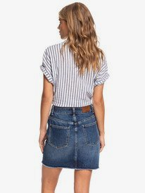 Surfing Girl Power - High Waist Denim Skirt for Women  ERJDK03015
