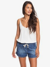Go To The Beach Elasticated Denim Shorts  ERJDS03213