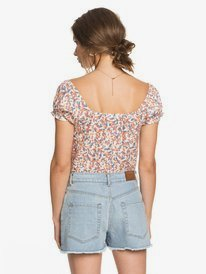 Kissing The Swell - Denim Shorts for Women  ERJDS03241