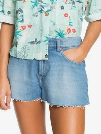 Kissing The Swell - Denim Shorts for Women  ERJDS03252