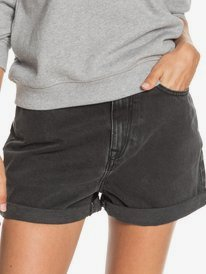Here Its Me Black - Mom Fit Denim Shorts for Women  ERJDS03261