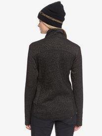 Harmony Shimmer - Zip-Up Mock Neck Fleece for Women  ERJFT03962