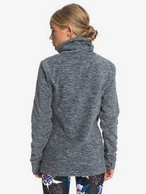 Snow Flakes Vibes - High Collar Polar Fleece for Women  ERJFT04260