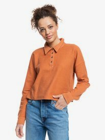 All Day Every Day - Polo Shirt Fleece Top for Women  ERJFT04426
