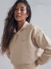 Kelia - Cropped Polo Neck Sweatshirt for Women  ERJFT04570