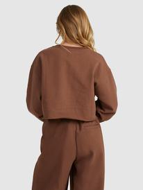 Kelia - Cropped Polo Neck Sweatshirt for Women  ERJFT04572