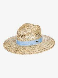 Crashing Waves - Straw Sun Hat for Women  ERJHA03894