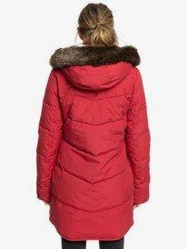 Ellie - Longline Hooded Waterproof Puffer Jacket for Women  ERJJK03289