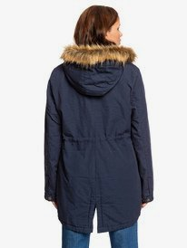 Sun Goes Down - Hooded Canvas Parka Jacket for Women  ERJJK03321