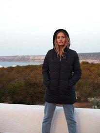 Southern Nights - Longline Water-Resistant Hooded Puffer Jacket for Women  ERJJK03362