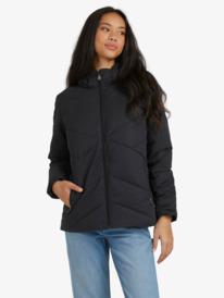 No Goodbyes - Hooded Puffer Jacket for Women  ERJJK03364