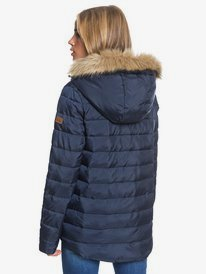 Rock Peak Fur - Water-Resistant Hooded Puffer Jacket for Women  ERJJK03392