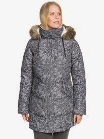 Ellie Printed - Waterproof Longline Puffer Jacket for Women  ERJJK03401
