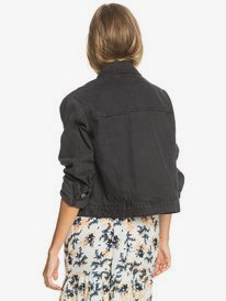 True Star Black - Denim Trucker Jacket for Women  ERJJK03405