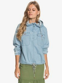 Wander Free - Lightweight Denim Anorak for Women  ERJJK03424