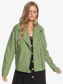 Dream Destination - Cotton Biker Style Jacket for Women  ERJJK03426