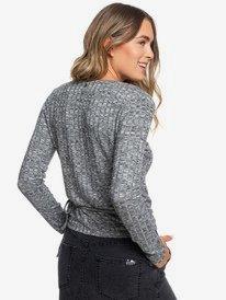 Cloudy Days - Wrap Rib Knit Long Sleeve Top for Women  ERJKT03555