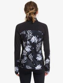 Lead By The Slopes - Technical Half-Zip Mock Neck Long Sleeve Top for Women  ERJKT03585