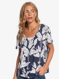 Beach Summer Party - Short Sleeve V-Neck Top  ERJKT03662