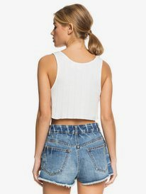 Kelia Summer Feeling - Cropped Rib Knit Vest Top for Women  ERJKT03669