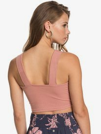Blow Away - Rib Knit Crop Top for Women  ERJKT03730
