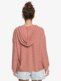 Lovely Life Stripes - Long Sleeve Poncho Hoodie for Women  ERJKT03739