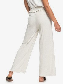 Pastel Sunset - Cosy Wide Leg Rib Knit Trousers for Women  ERJNP03283