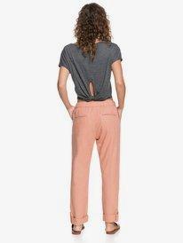 On The Seashore - Linen Cargo Trousers for Women  ERJNP03294