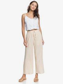 Redondo Beach - Cropped Wide Leg Trousers for Women  ERJNP03309
