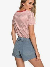 Boy Rules - High Waist Corduroy Shorts for Women  ERJNS03208