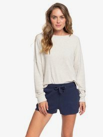 Mind At Ease - Cosy Rib Knit Sweat Shorts for Women  ERJNS03261