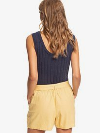 Steal The Sun - High Waist Linen Shorts for Women  ERJNS03277