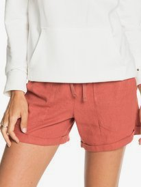 Another Kiss - Linen Shorts for Women  ERJNS03310