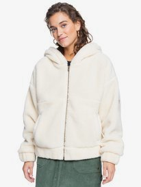 Border Line - Zip-Up Sherpa Fleece for Women  ERJPF03088