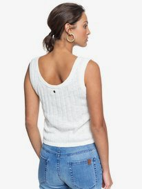 Be Sensational - Buttoned Knitted Vest Top for Women  ERJSW03377
